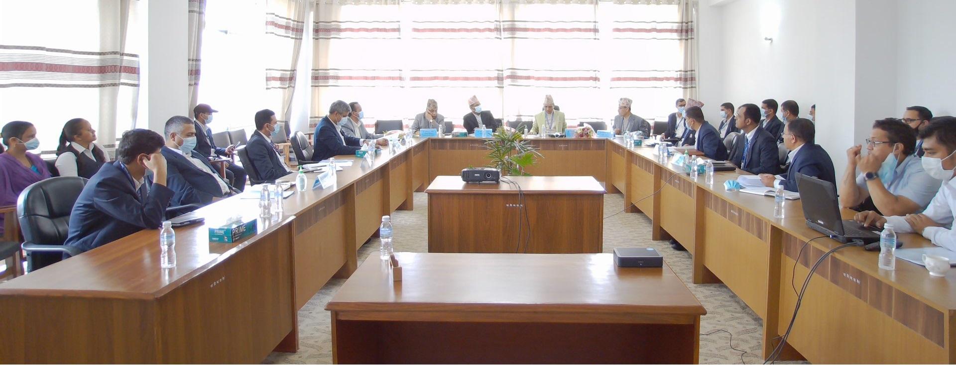 तालिम निर्देशक समिति बैठक (२०७८ आश्विन १२)